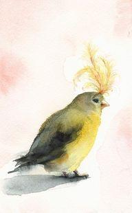 Bird #watercolor...