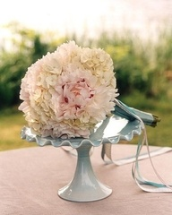 Cream Hydrangea & Pale Pink Peony