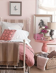 pink and soft browns