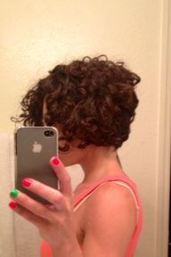 Inverted curly bob -