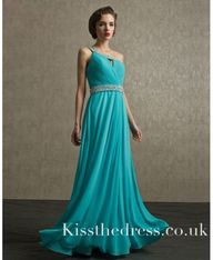 Blue One Shoulder A-