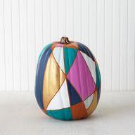 Painted Pumpkin Deco