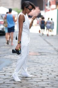 white jumpsuit + con
