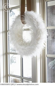 Fuzzy White WReath...