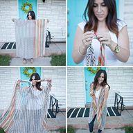 easy scarf to kimono