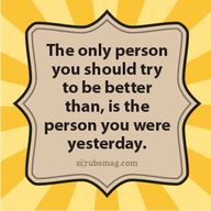 The only person you...
