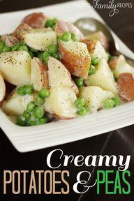 Creamy potatoes & pe