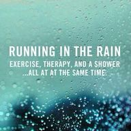 Running in the rain!