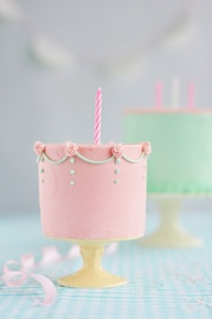 tiny little pink cak