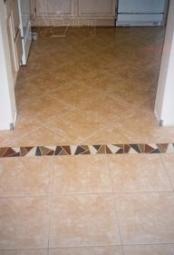New tile flooring in