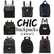 Chic designer backpa