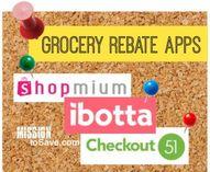grocery rebate apps.