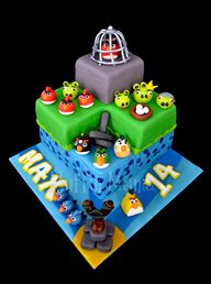 Angry Birds cake...