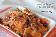 Au gratin sweet pota