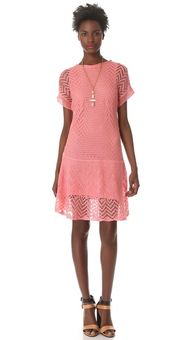 LOVE the dolman sleeves and drop waist on this crochet dress by Thakoon Addition