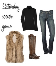 Faux fur vest idea -...