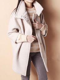 Beige Ovoid Coat//