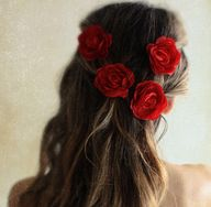 #hair #redrose
