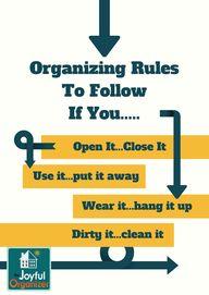 Organizing Rules