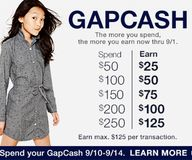Earn GapCash when yo