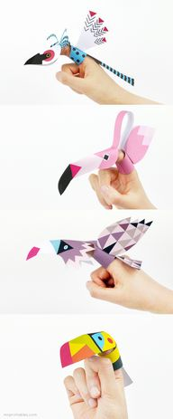 Printable Bird Finge