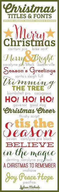 Christmas Titles and