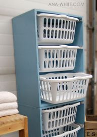 laundry basket tower