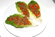 Salad Cups with meat