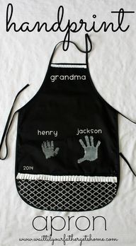 Hand Print Apron for