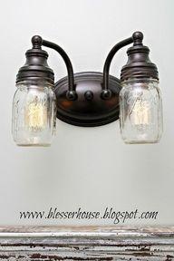 DIY Mason Jar Vanity