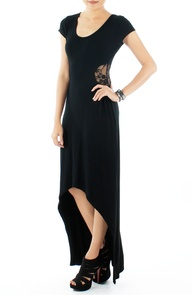 Midnight Venus Dress with Lace Side - RM67