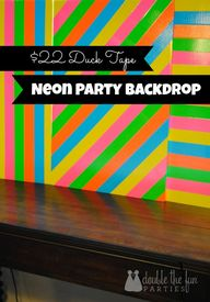 Neon Party Duck Tape