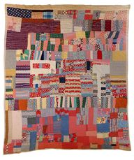 Strip quilt made of