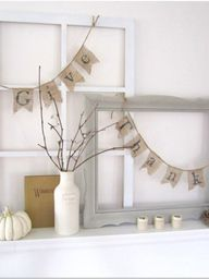 A mantel is decorate