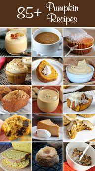 85+ Pumpkin Recipes