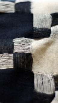 woven, black and whi