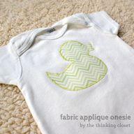 Fabric Applique Ones