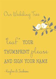 Thumbprint tree gues