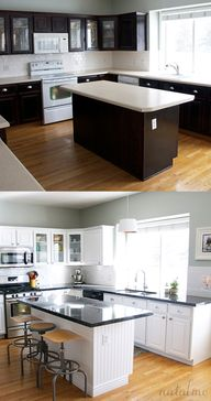 Kitchen before and a