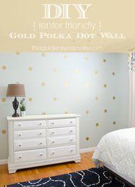 DIY Gold Polka Dot W