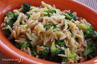 Broccoli cheese orzo