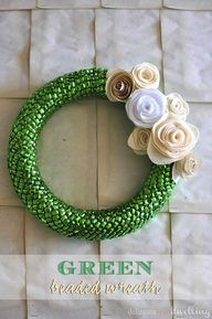 Green Beaded Wreath,