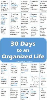 30 Days to an Organi