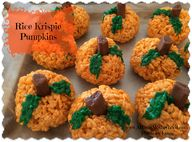 Rice Krispie Pumpkin