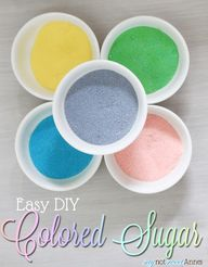 DIY Colored Sugars i
