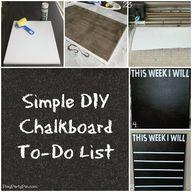 DIY Chalkboard To-Do
