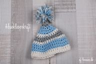 Crochet baby hat wit
