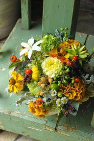 Fall Flowers  & Frui