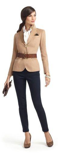 blazer with belt