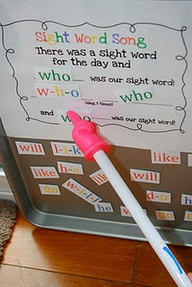Sight word song for